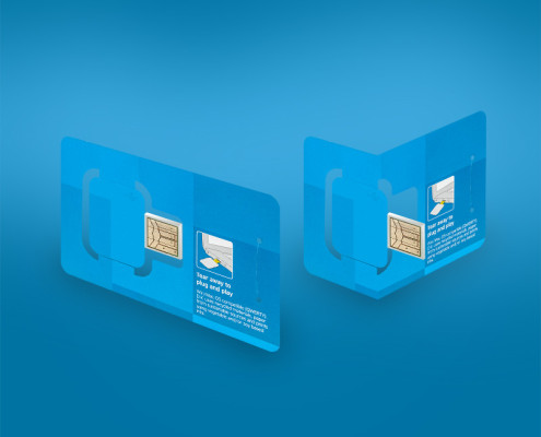 1 Panel Business Card Digital Key