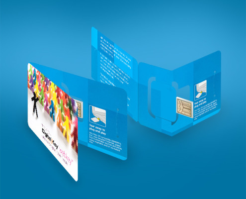 2 Panel Business Card Digital Key